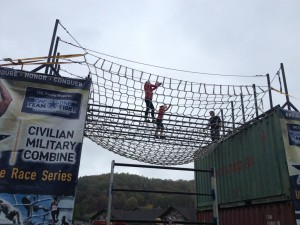 One of my favorite parts of the race--I'm not really afraid of heights and this was the end!!!