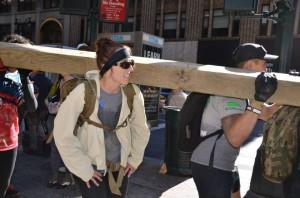 The log carry. AKA: Shoulder Killer.