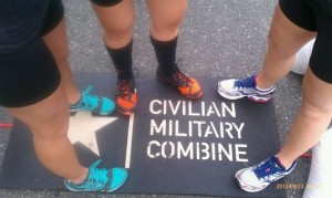 My pick for obstacle course races--the New Balance Minimus--on the right and in the middle.