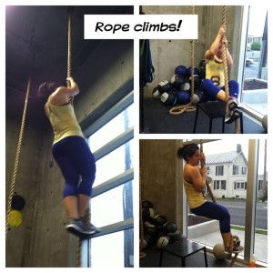 Rope climbing in the same Nanos as Tasha!