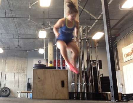 box jump over