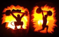 Weightlifting Pumpkin