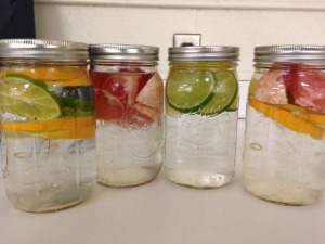 One of my favorite ways to stay hydrated...freshening up my water!