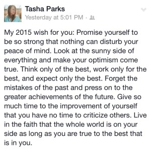 Tasha's take on resolutions. Tasha is one of our ambassadors, a guest writer, and an awesome athlete.