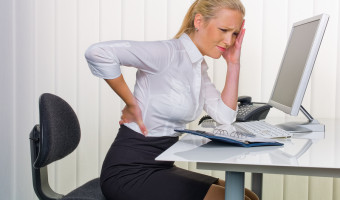 back pain computer female