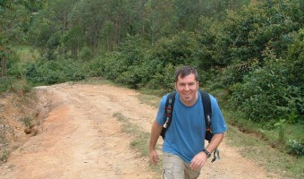 Erik walking in Africa