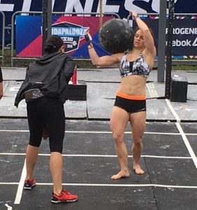 Strongfigure Ambassador, Maria Hayden, crushing through Atlas Stones at THE Wodapalooza.
