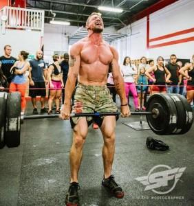 Strongfigure Ambassador Ryan Mullins, crushing weight in the Superfit Games.