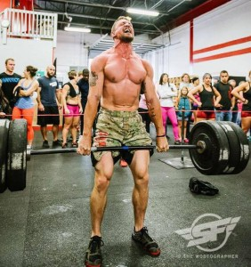 Strongfigure Ambassador Ryan Mullins, crushing weight in the Superfit Games.