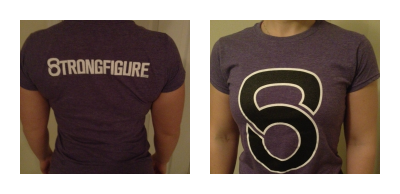 Purple with Black Logo Front and Back