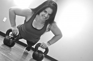 Pushups are always a challenge when done on a kettlebell!