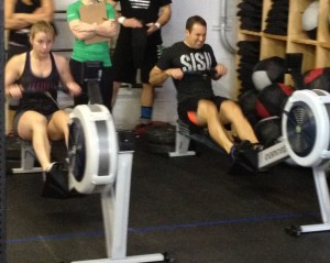 Row, row, row your calories away! Awesome job Tim and Reagan!