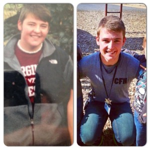 Trevor before CrossFit and then after. CrossFit: It does a body good.