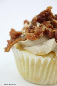 It's a freakin' bacon cupcake. Bacon+Cake. H.E.A.V.E.N. If you are EVER in the Harrisonburg area, you MUST stop by The Cupcake Company. It's 100% worth spoiling your diet for a day.