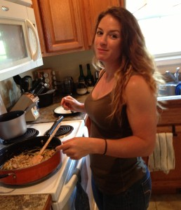 A beast in the gym and a chef in the kitchen! I LOVE it when Laken cooks for me.