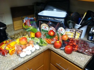 Packing healthy for vacation!