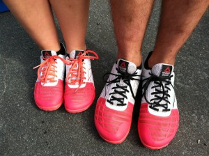 Someone thought it was cute that mine and Trevor's shoes matched. #crossfitlove #reebokaddiction #weloveournanos