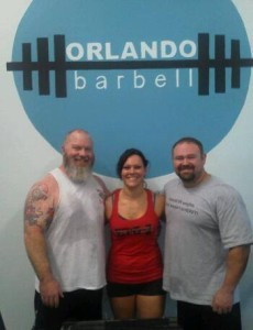 April with training partners/coaches at Orlando Barbell.