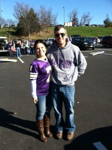 Fall football games, jeans, boots, sweatshirts, and tailgates. Serious happiness right there.