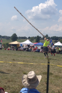 Last weekend Steph and I went to the Virginia Scottish Games, bagpipes and caber tossing, talk about motivation