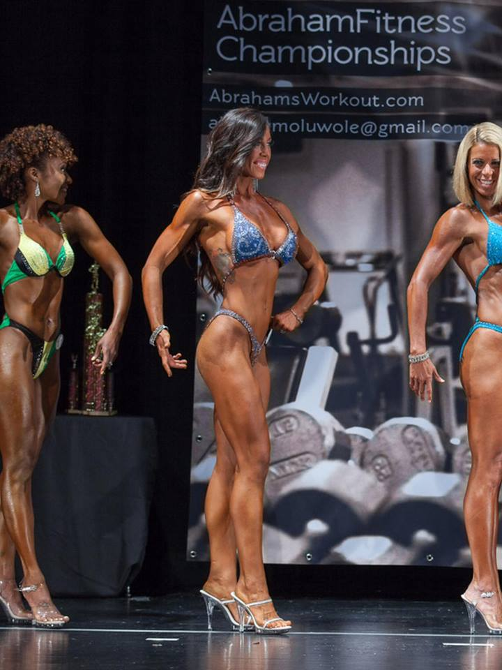 Kelsey on stage--and NOT carb-depleted!