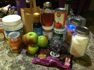 All my food co-op ingredients for my healthy dishes.