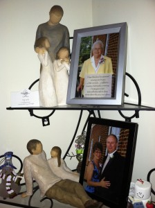 A little shrine I keep of my dad and grandma.