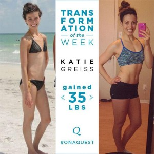 This was an amazing transformation photo posted on twitter by Quest Nutrition