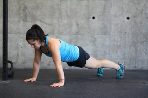 plank hops 1 or push-up position