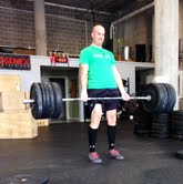 Ryan crushes the deadlifting WOD.