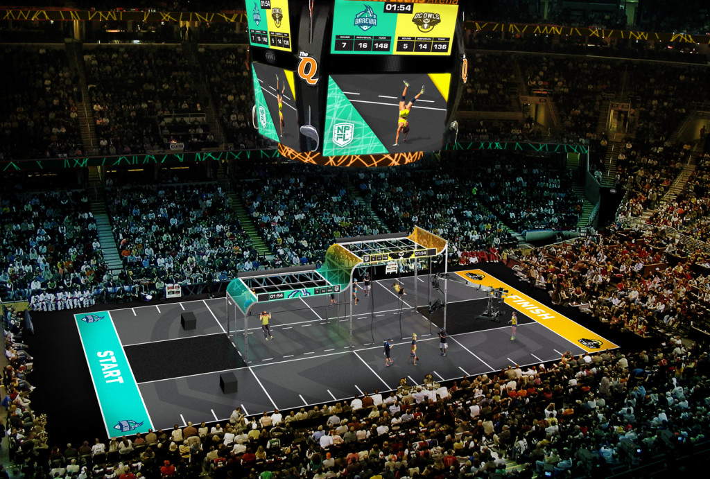 Here is an artists rendition of the court retrieved from profitnessleague.com