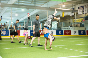 Photo of the National Pro Fitness League (NPFL) Atlanta Combine.  Photo courtesey of the NPFL