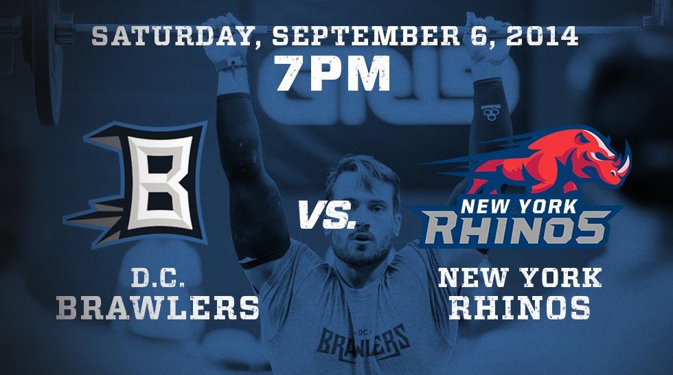 Brawlers vs Rhinos