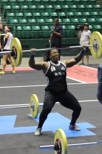 Taylar Stallings finishes off the snatches in race 9.