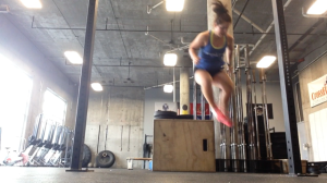 "Burpee lateral box jumps. It just screams ""CrossFit,"" doesn't it?!"