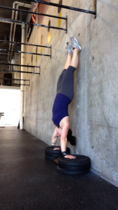 Trying to work on deficit handstand push-ups...huge shoulder builder.