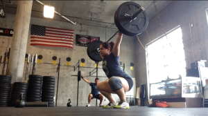 The overhead squat. I LOVE these and always get excited to see them in a workout!
