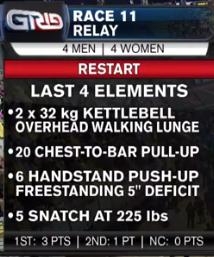 race 11 restart
