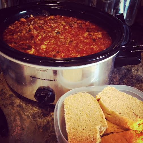 Healthy Enchilada Stew & Conditioning Workout