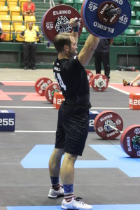 DC Brawlers' Men's Captain, Tim Carroll, on the Thruster Ladder.