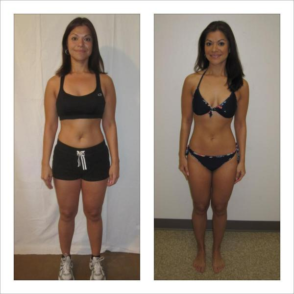 Before and after a heavy weight training program -- likes.com