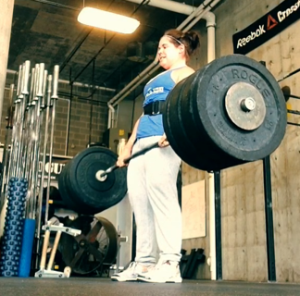 Hitting my 305 lb deadlift PR.