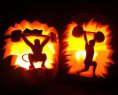 Weightlifting Pumpkin