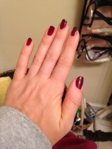 What do you think? I'm thinking I should have done an accent nail.