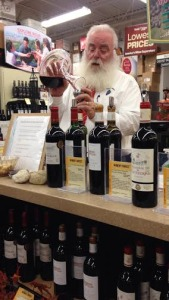 Santa does wine tastings?! He may be working at Total Wine, but he does play a wine-tasting Santa at parties!
