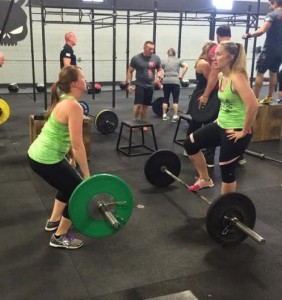 """I've met incredible people along the way, like this awesome lady: Vivian. This was a partner event at CrossFit Maximus."""