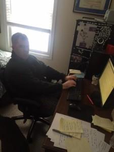"""Erik's working on his """"Sleep"""" chapter."""