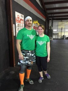 Strong Figure ambassadors Jeremy and Tasha representing Irish Strong.
